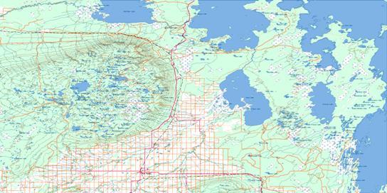 Swan Lake Topo Map 063C at 1:250,000 Scale