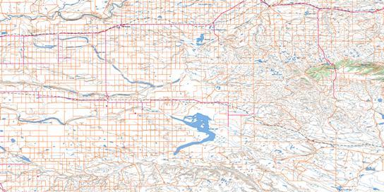 Foremost Topo Map 072E at 1:250,000 Scale
