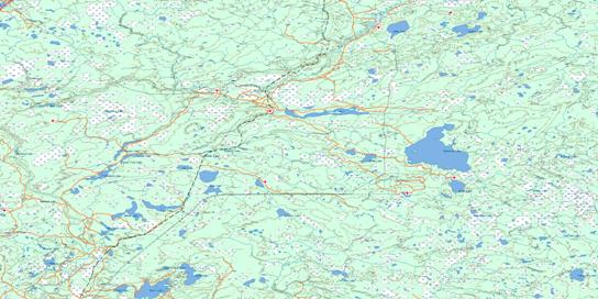 Winefred Lake Topo Map 073M at 1:250,000 Scale