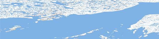 Richardson Islands Topo Map 077B at 1:250,000 Scale