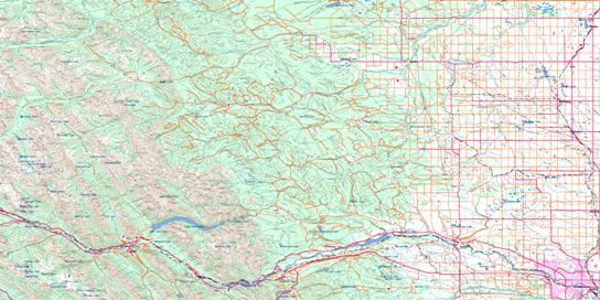 Calgary Topo Map 082O at 1:250,000 Scale