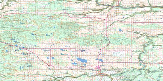 Grande Prairie Topo Map 083M at 1:250,000 Scale