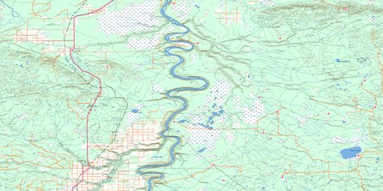 Bison Lake Topo Map 084F at 1:250,000 Scale