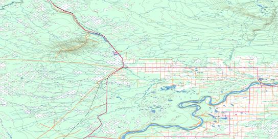 Mount Watt Topo Map 084K at 1:250,000 Scale