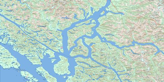 Douglas Channel Topo Map 103H at 1:250,000 Scale
