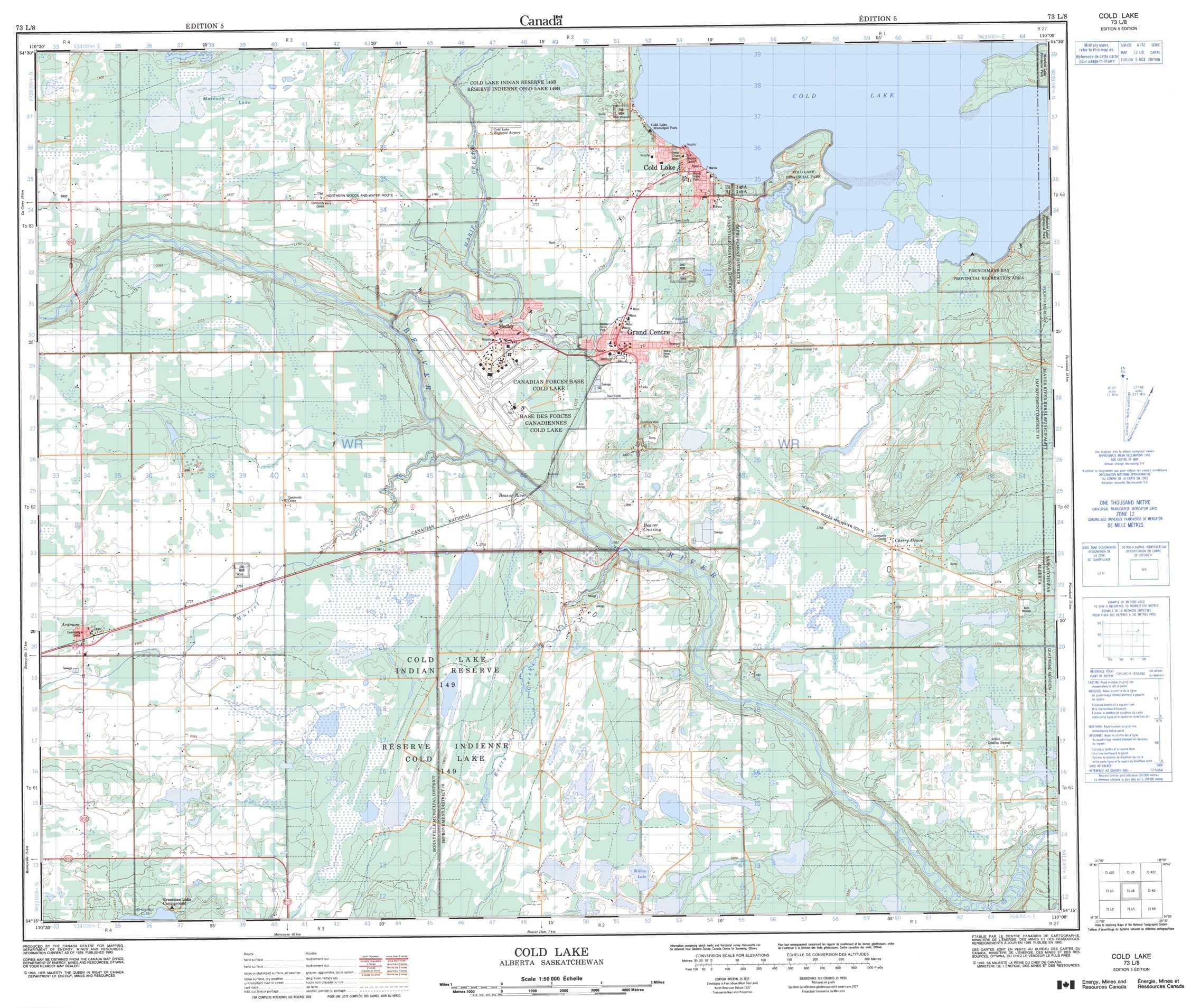 cold lake alberta map