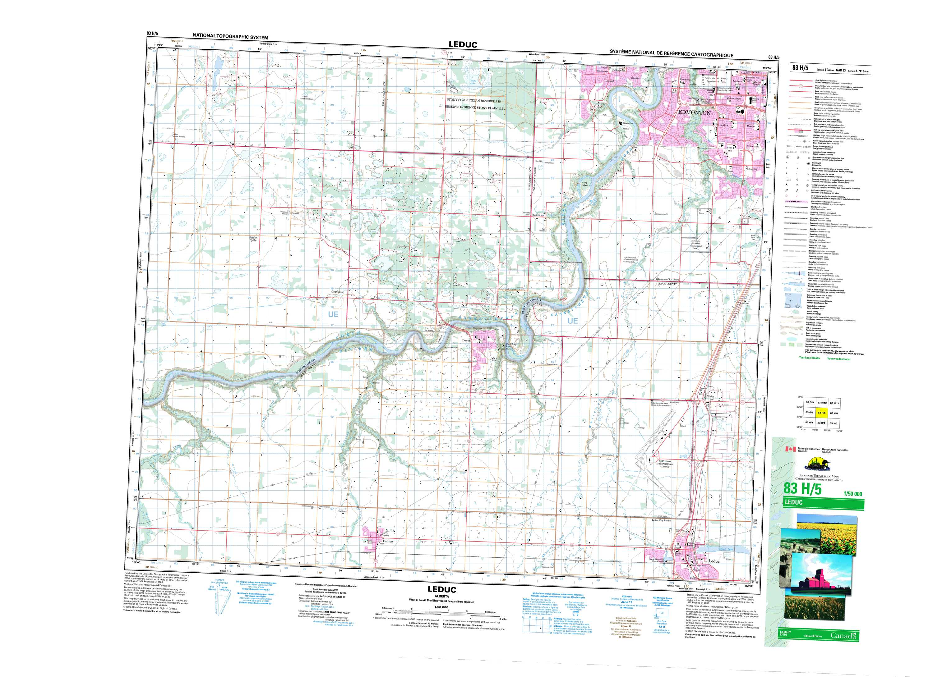 Leduc AB Maps Online Free Topographic Map Sheet 083H05 at 150000