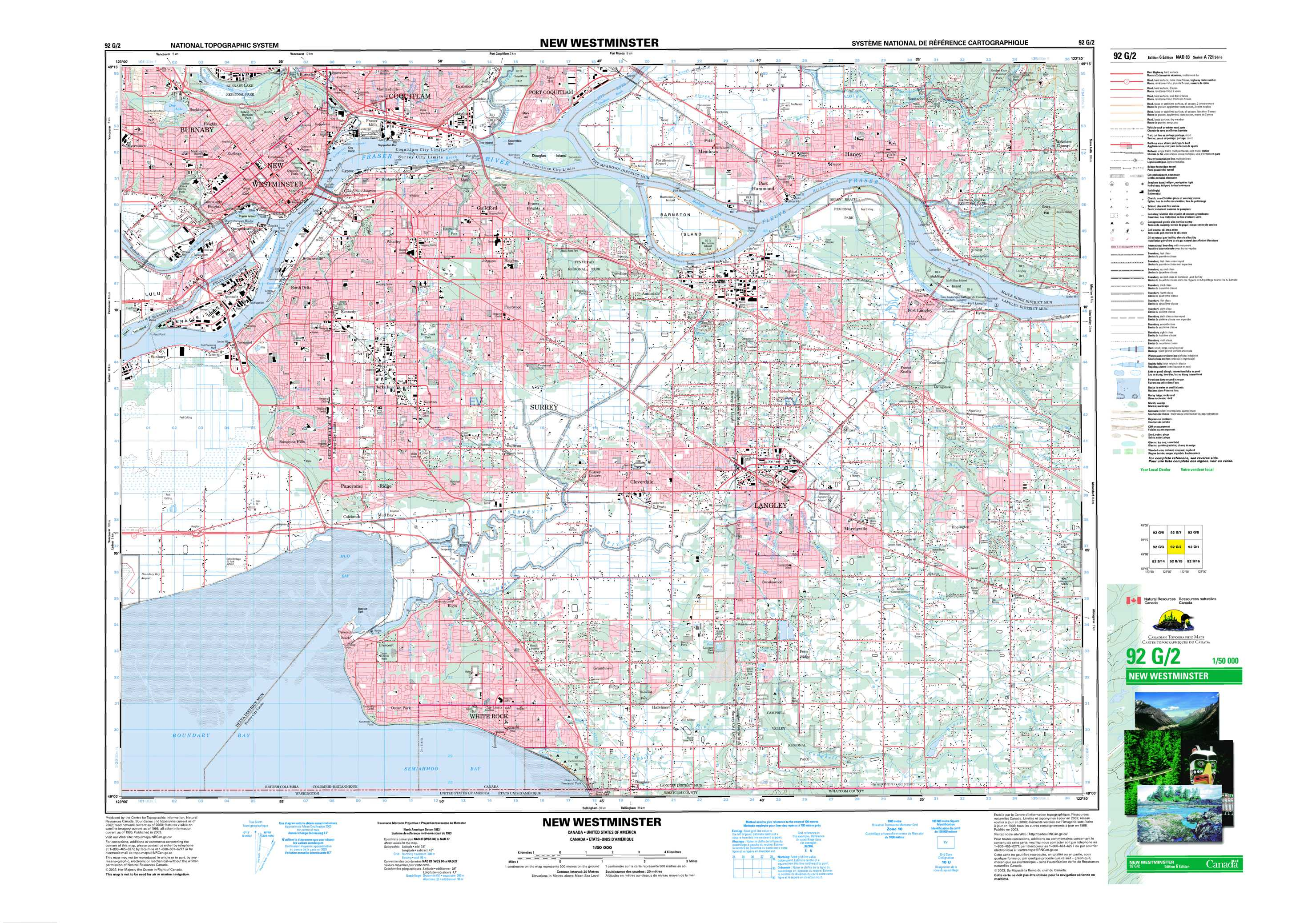 New Westminster BC Maps Online - Free Topographic Map Sheet