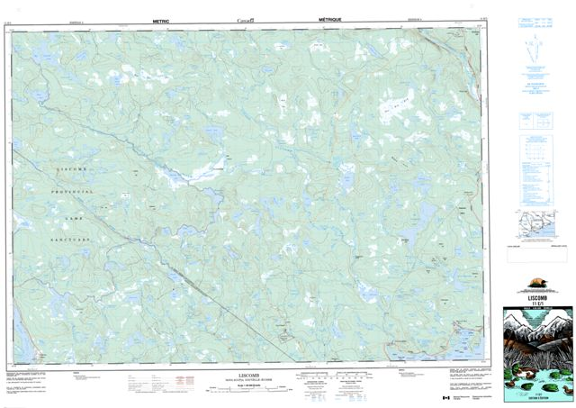 Liscomb Topographic Paper Map 011E01 at 1:50,000 scale