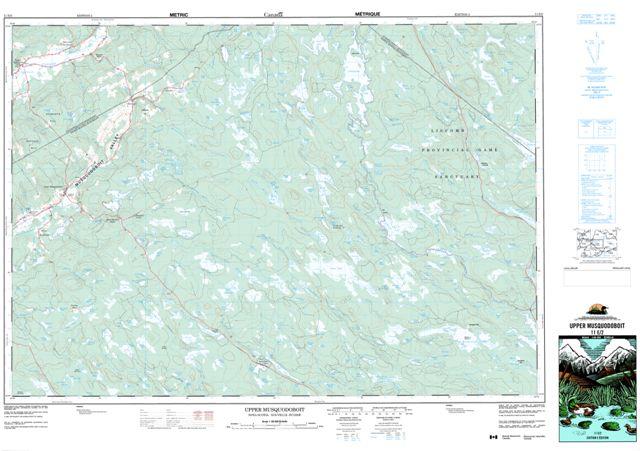 Upper Musquodoboit Topographic Paper Map 011E02 at 1:50,000 scale