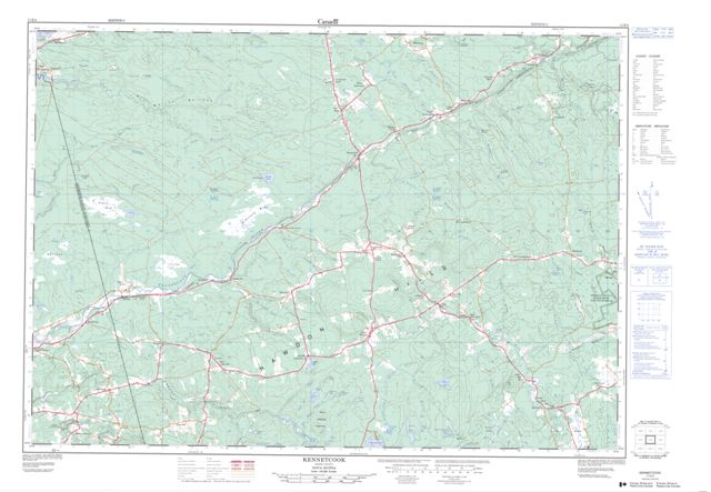 Kennetcook Topographic Paper Map 011E04 at 1:50,000 scale