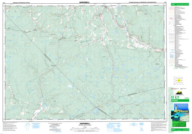 Hopewell Topographic Paper Map 011E07 at 1:50,000 scale