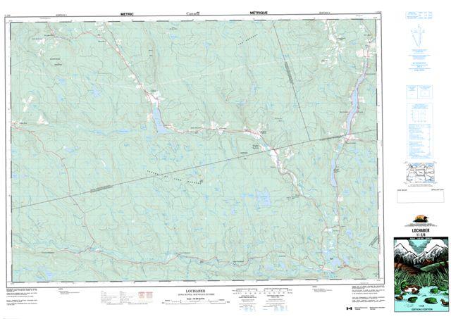 Lochaber Topographic Paper Map 011E08 at 1:50,000 scale