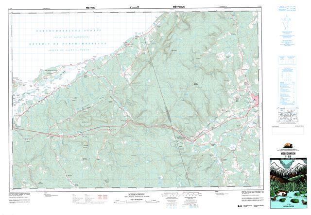 Merigomish Topographic Paper Map 011E09 at 1:50,000 scale