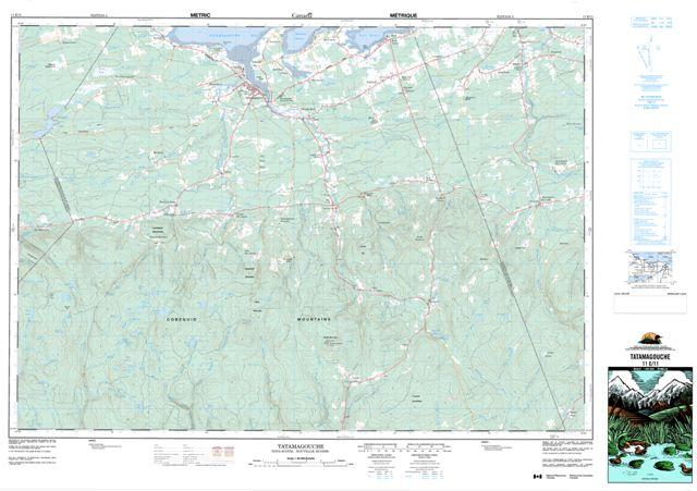 Tatamagouche Topographic Paper Map 011E11 at 1:50,000 scale