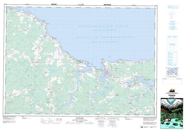 Pugwash Topographic Paper Map 011E13 at 1:50,000 scale