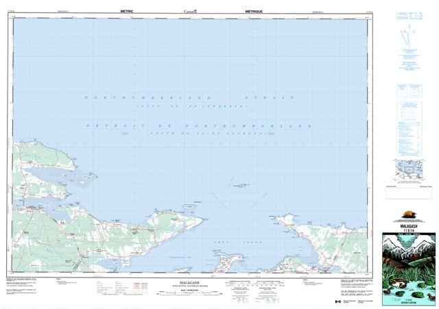 Malagash Topographic Paper Map 011E14 at 1:50,000 scale