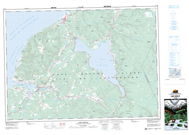 Lake Ainslie Topographic Paper Map 011K03 at 1:50,000 scale