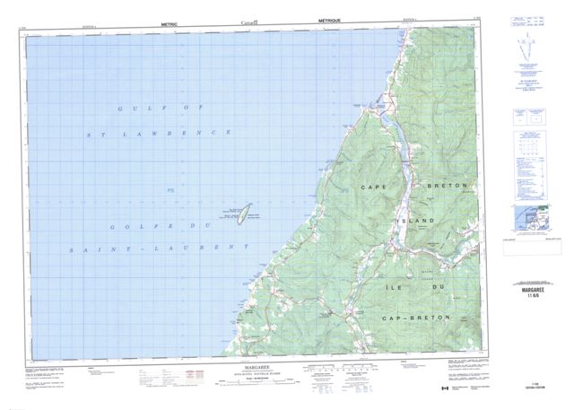 Margaree Topographic Paper Map 011K06 at 1:50,000 scale