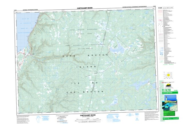 Cheticamp River Topographic Paper Map 011K10 at 1:50,000 scale