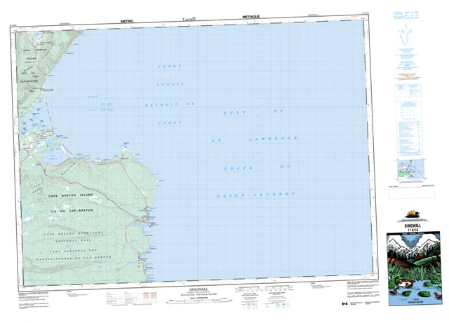 Dingwall Topographic Paper Map 011K16 at 1:50,000 scale