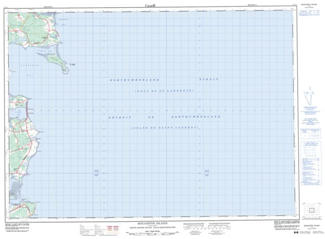 Boughton Island Topographic Paper Map 011L01 at 1:50,000 scale