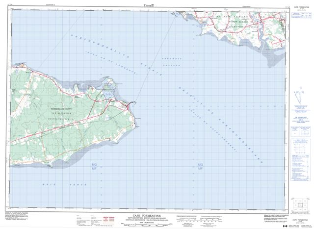 Cape Tormentine Topographic Paper Map 011L04 at 1:50,000 scale