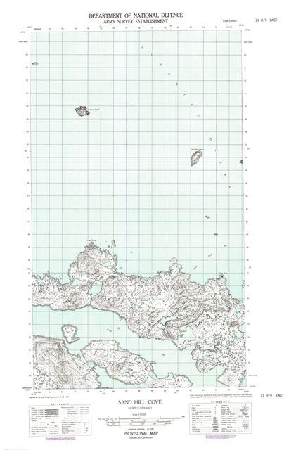 Sand Hill Cove Topographic Paper Map 013H09E at 1:50,000 scale