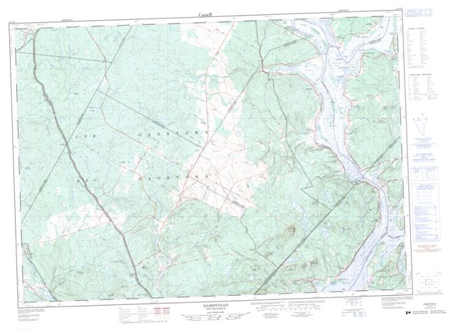 Hampstead Topographic Paper Map 021G09 at 1:50,000 scale