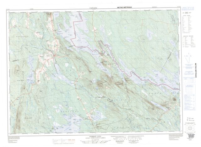 Forest City Topographic Paper Map 021G12 at 1:50,000 scale