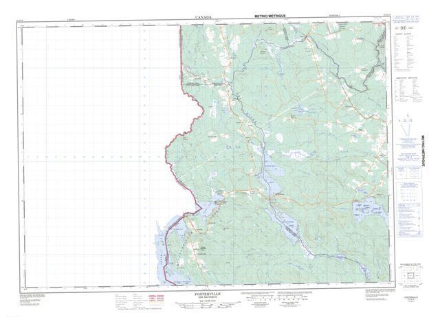 Fosterville Topographic Paper Map 021G13 at 1:50,000 scale
