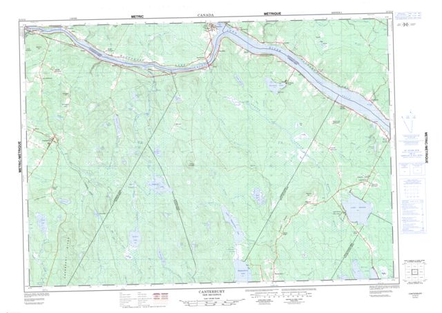 Canterbury Topographic Paper Map 021G14 at 1:50,000 scale