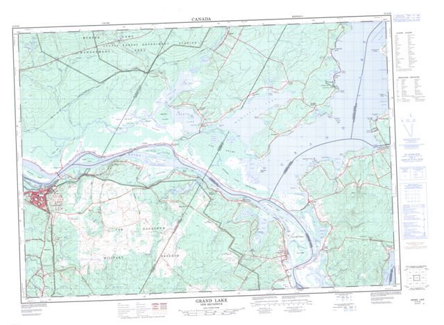 Grand Lake Topographic Paper Map 021G16 at 1:50,000 scale
