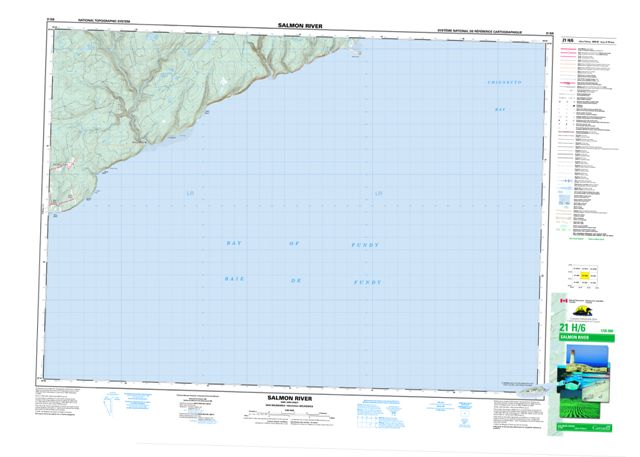 Salmon River Topographic Paper Map 021H06 at 1:50,000 scale