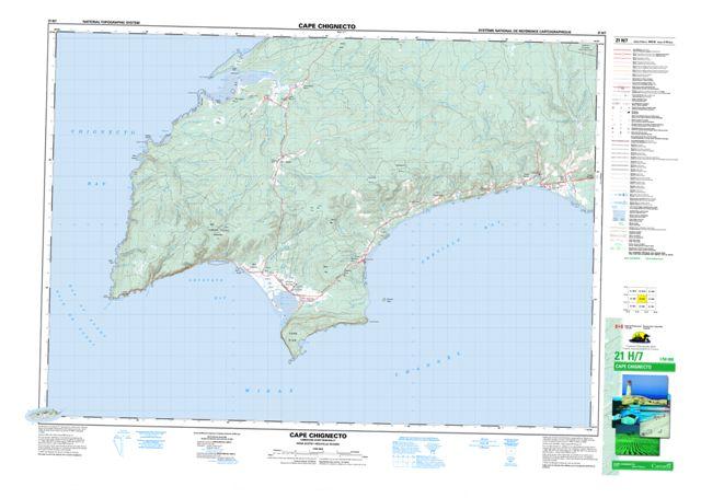 Cape Chignecto Topographic Paper Map 021H07 at 1:50,000 scale