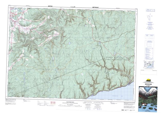 Waterford Topographic Paper Map 021H11 at 1:50,000 scale