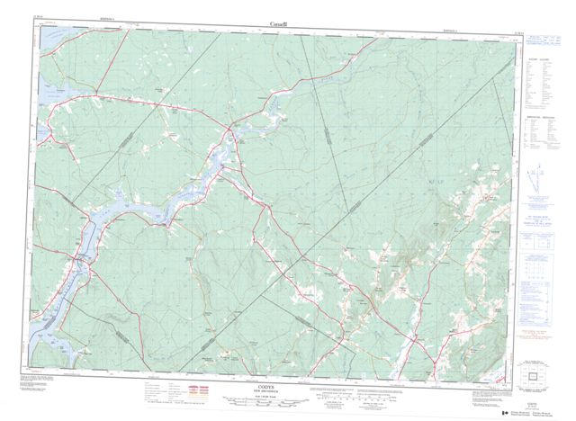 Codys Topographic Paper Map 021H13 at 1:50,000 scale