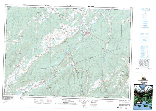 Petitcodiac Topographic Paper Map 021H14 at 1:50,000 scale