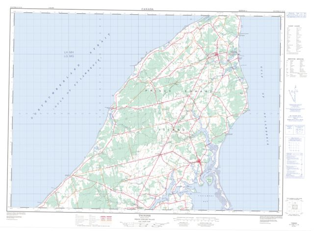 Tignish Topographic Paper Map 021I16 at 1:50,000 scale