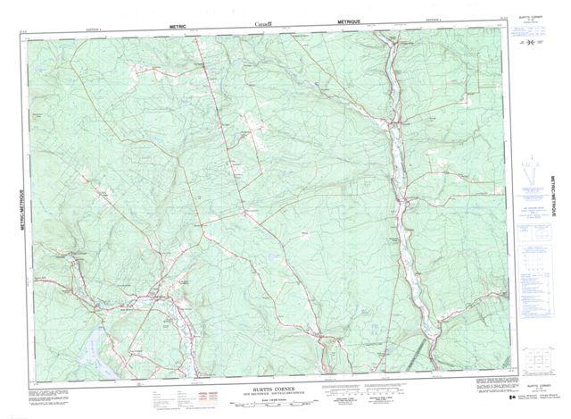 Burtts Corner Topographic Paper Map 021J02 at 1:50,000 scale