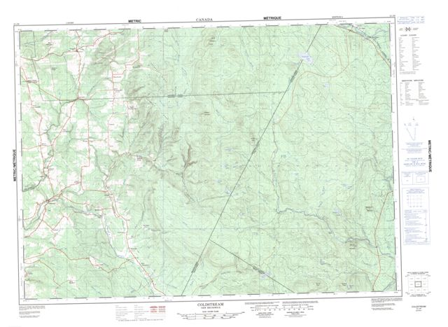 Coldstream Topographic Paper Map 021J06 at 1:50,000 scale