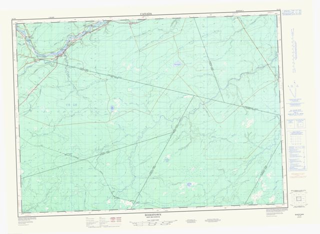 Boiestown Topographic Paper Map 021J08 at 1:50,000 scale