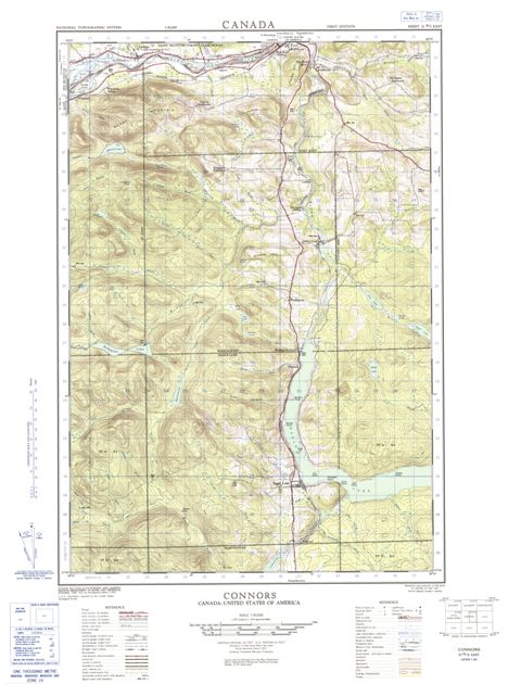Connors Topographic Paper Map 021N02E at 1:50,000 scale