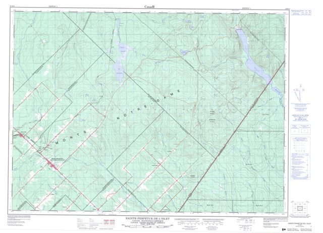 Ste-Perpetue-De-Islet Topographic Paper Map 021N04 at 1:50,000 scale