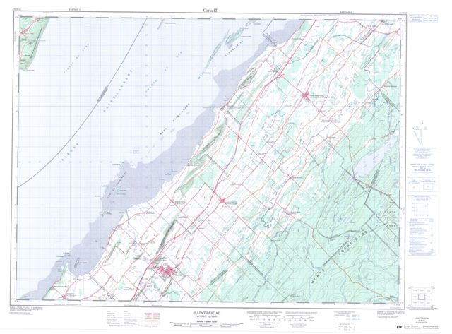 Saint-Pascal Topographic Paper Map 021N12 at 1:50,000 scale