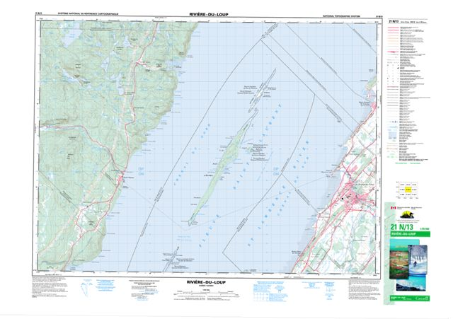 Riviere-Du-Loup Topographic Paper Map 021N13 at 1:50,000 scale