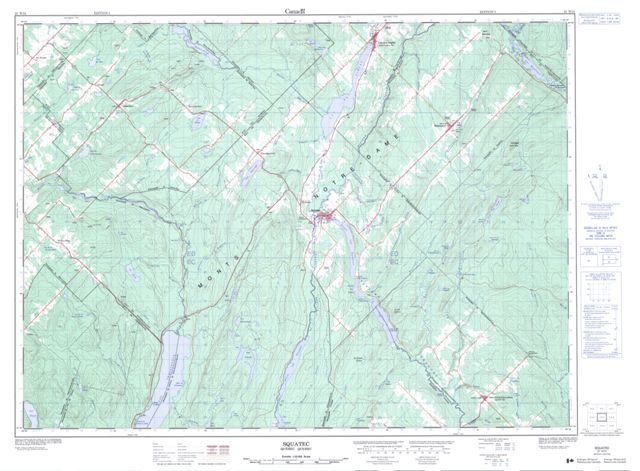 Squatec Topographic Paper Map 021N15 at 1:50,000 scale