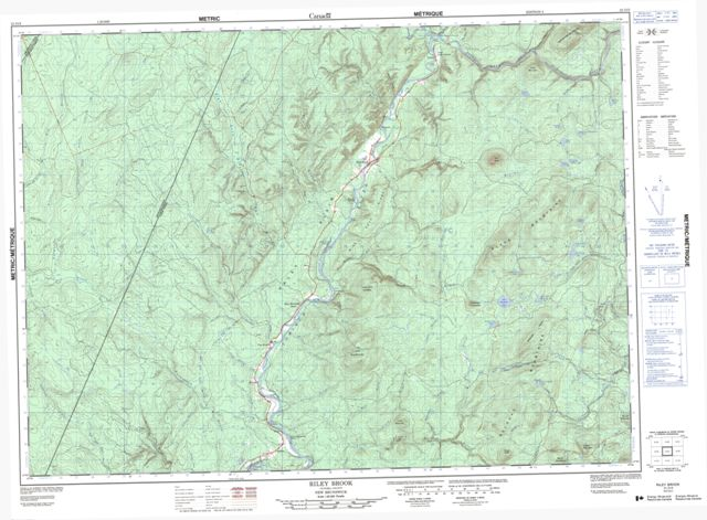Riley Brook Topographic Paper Map 021O03 at 1:50,000 scale