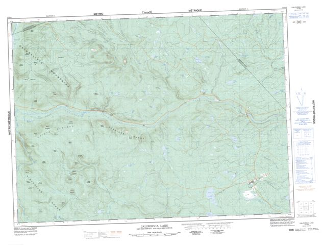 California Lake Topographic Paper Map 021O08 at 1:50,000 scale
