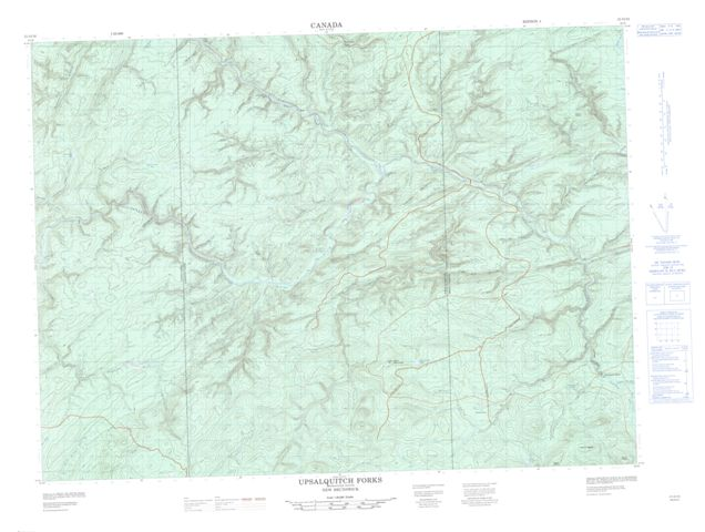 Upsalquitch Forks Topographic Paper Map 021O10 at 1:50,000 scale